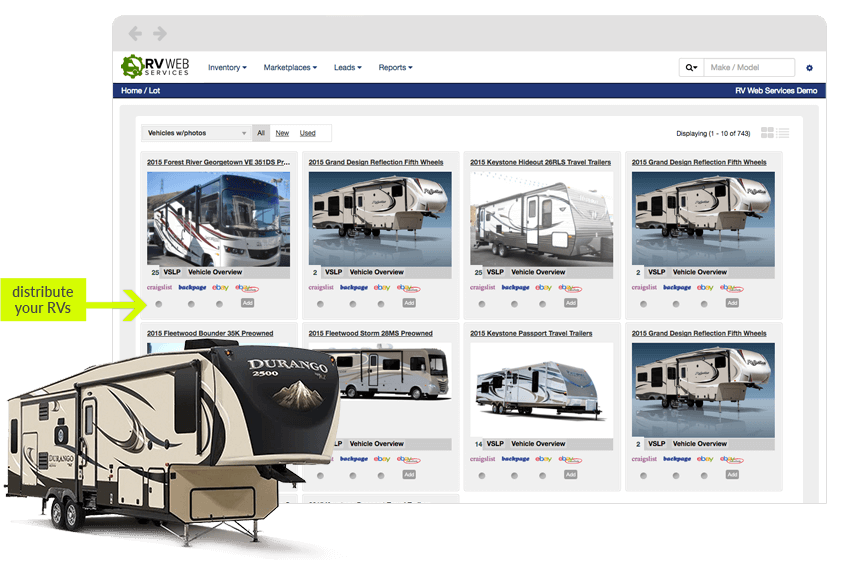 Use Data distribution to distribute your RVs on other websites