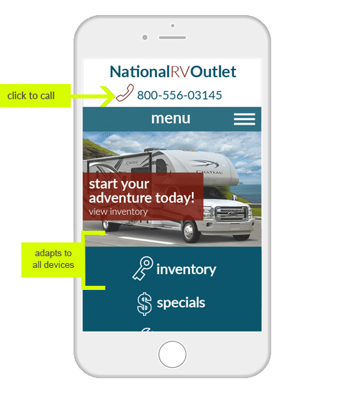 RV Demo 1 mobile example